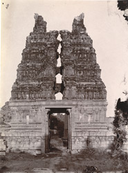 Five-storeyed gopura of the Pattabhirama Temple, Vijayanagara.